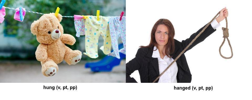 differnce between hung & hang