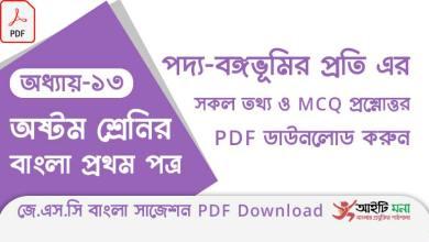 jsc-bangla-1st-paper-mcq-suggestion-pdf-download-chapter-13