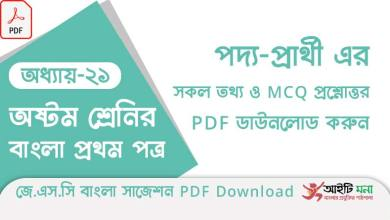 jsc-bangla-1st-paper-mcq-suggestion-pdf-download-chapter-21