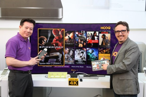HOOQ Country manager and CEO from left