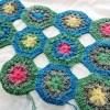 花モチーフのマット、ここまで編めました!