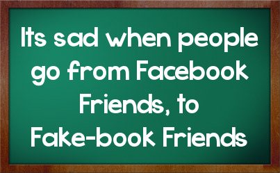 Facebook Friends are not Real