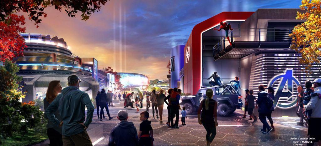 Walt Disney Studios: prima immagine ufficiale per la nuova area Marvel