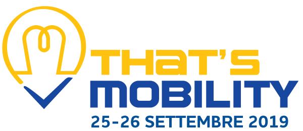 That's Mobility dal 25 al 26 settembre 2019: un viaggio fra i segreti della smart mobility
