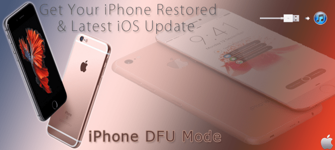 iPhone DFU Mode – Update iOS & Restore iPhone