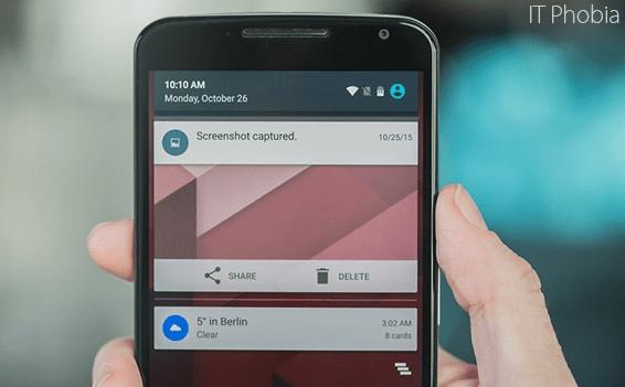 Android 6.0.1 Marshmallow Delete Screenshot