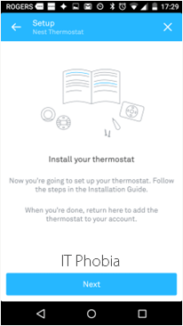 Nest Learning Thermostat 3rd Generation Nest App Install your Thermostat