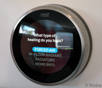 Nest Learning Thermostat 3rd Generation heating type