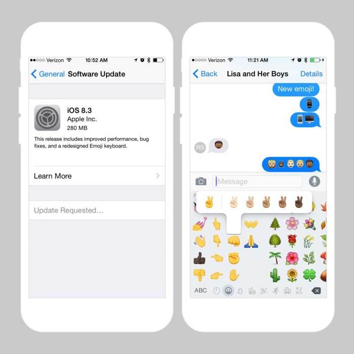 iPhone Emoji Keyboard for iOS 8.3