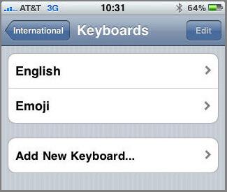 iPhone Emoji Keyboard for iPhone- 4.0