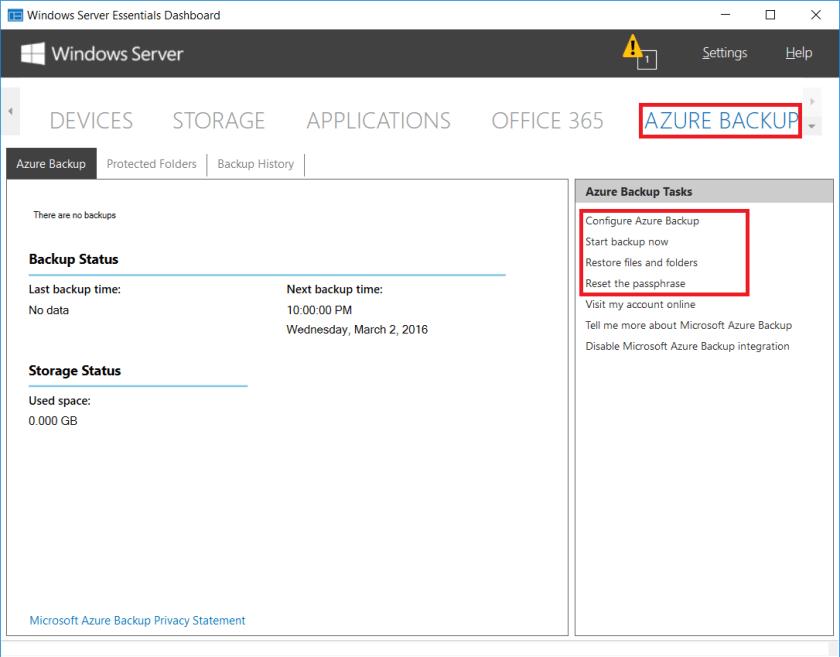 2016 Essentials Integration: Azure Backup – ITProMentor