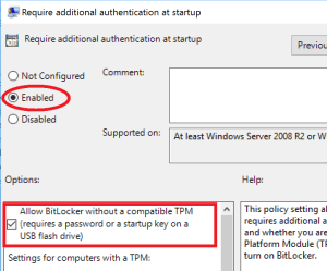How to enable BitLocker in Windows 10, with or without TPM