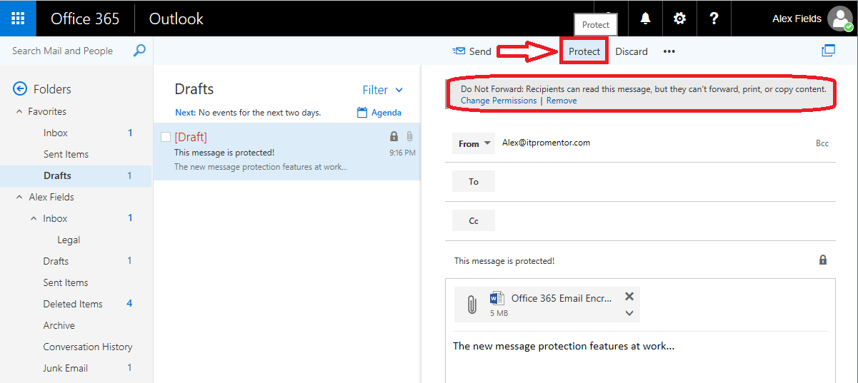 How to set up automatic encrypted email in outlook