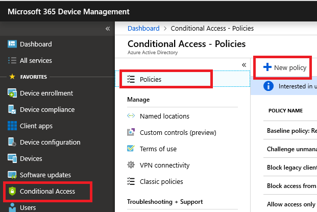 My favorite Conditional Access Policies for the SMB