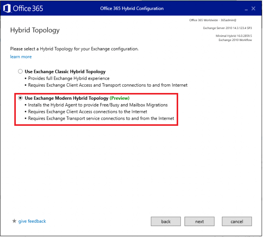 Essentials for Administration Office 365 /& Exchange Online