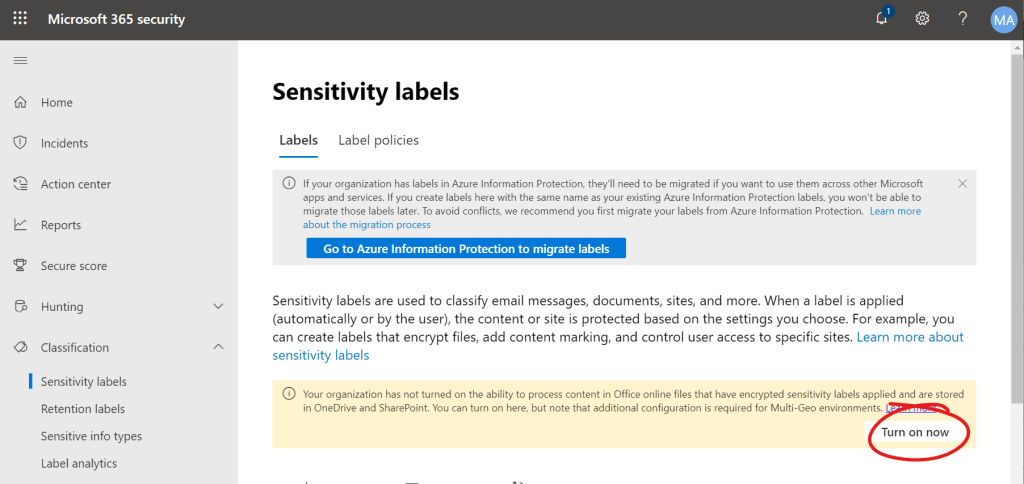 Behold: The Power of Sensitivity Labels