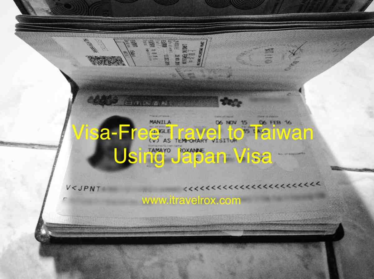 Visa-Free Travel Taiwan Using Japan Visa for Philippines Passport Holders