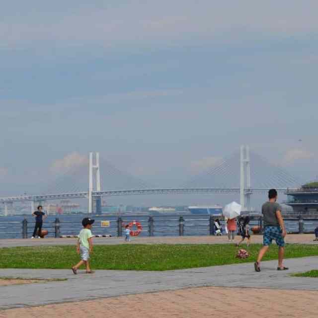 A sight of the YokohamaBayBridge in Yokohama Japan bridge justhellip
