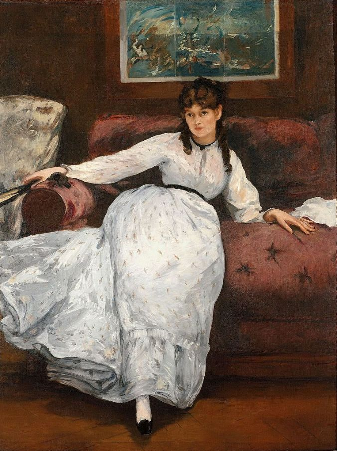 Portrait of Berthe Morisot by Eduoard Manet