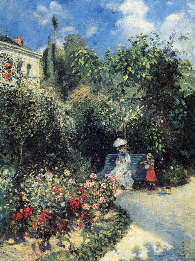Camille Pissarro - Dans le jardin des Mathurins, Pontoise