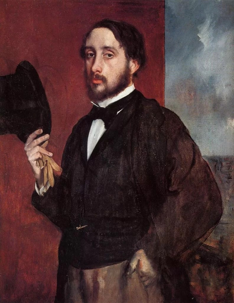 Edgar Degas' paintings self portrait