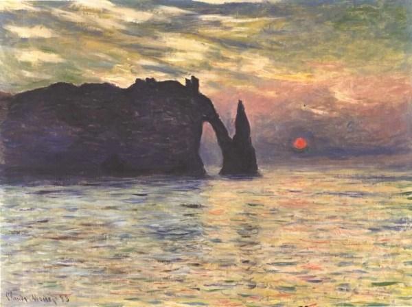 Etretat Cliffs - Claude Monet