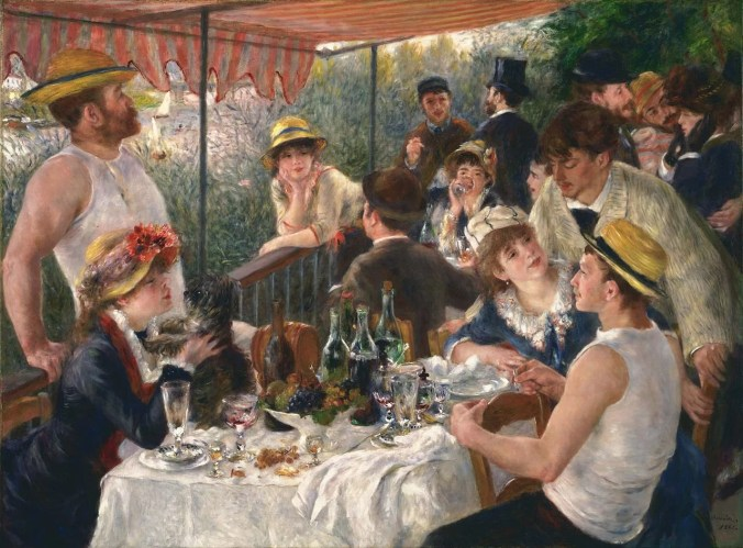Luncheon of the Boating Party - Pierre August Renoir famous painting