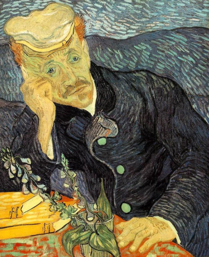Portrait of Dr. Paul Gachet by Vincent Van Gogh