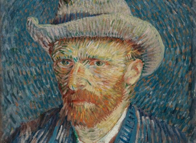Van Gogh self Portrait - pointillism art