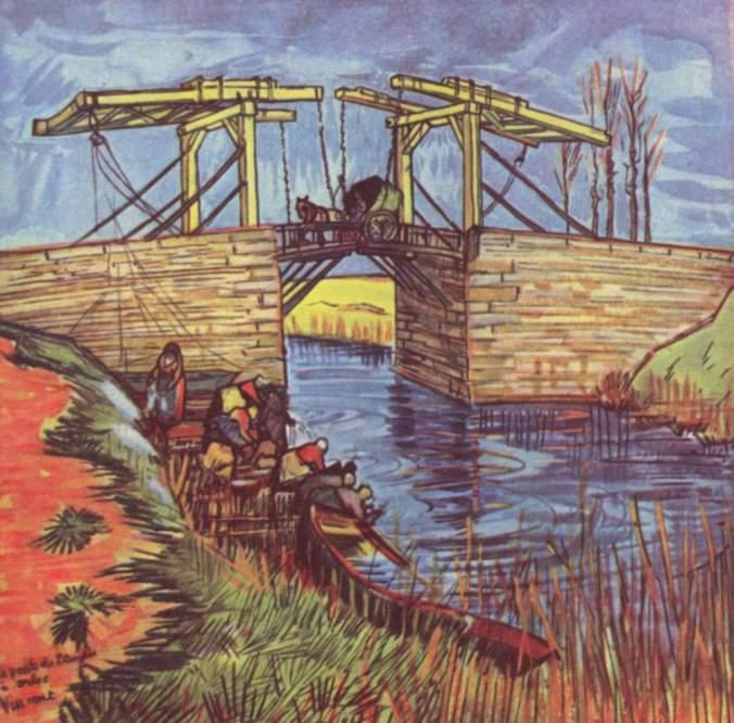 The Langlois Bridge at Arles - Van Gogh Painting