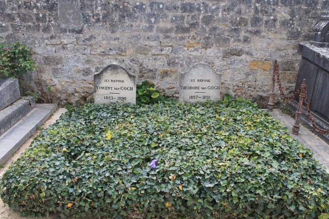 Vincent Van Gogh's grave in Auvers-sur-Oise