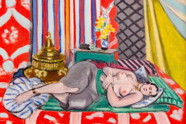 Matisse painting, woman lying down topless