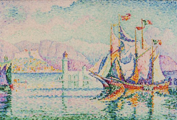 Neoimpressionism movement - Antibes - painting by Signac
