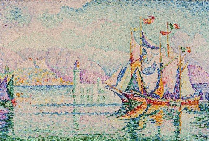 Antibes, Cote d'Azur - Paul Signac [Public Domain] - neoimpressionism