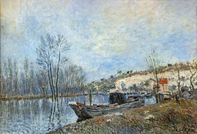 The Banks of the Loing towards Moret by Alfred Sisley