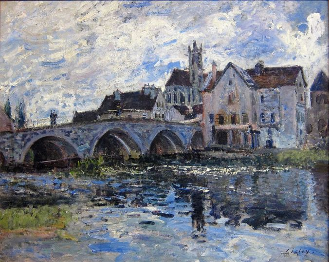 Moret Bridge - Alfred Sisley art