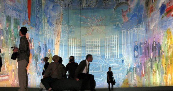 The huge Dufy mural called the Electricity Fairy