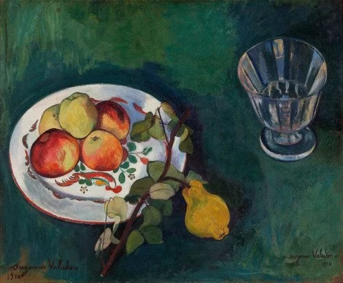 Still life of fruit and a glass by Suzanne Valadon - female impressionist