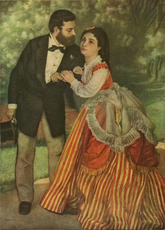 isley and his wife before the Franco Prussian War - Painting by Auguste Renoir