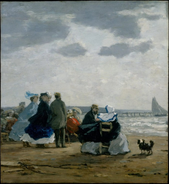 Dieppe beach and the aristocratic sunseekers painted by Eugene Boudin