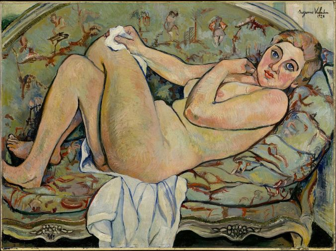 Reclining Nude - Suzanne Valadon painting - female impressionist