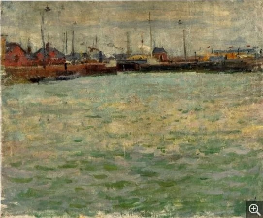 The Port of Le Havre - Exhibition of Raoul Dufy Impressionism paintings