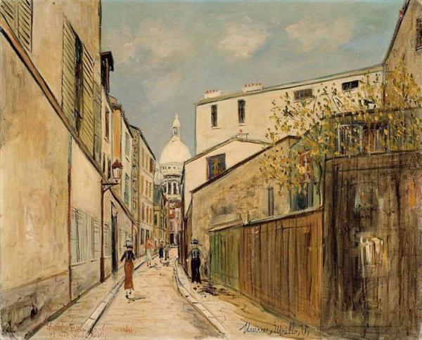 Sacre Coeur Church, Paris - Maurice Utrillo Painting