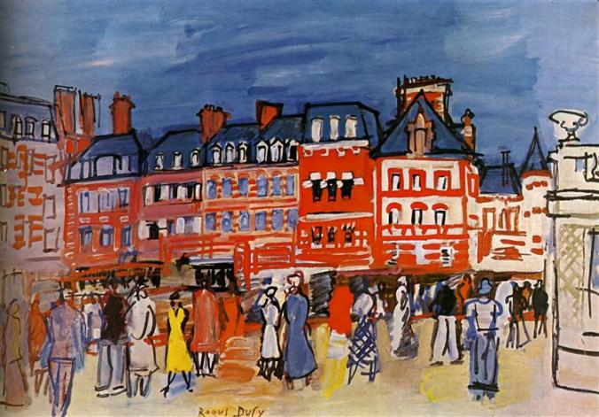 Trouville Painting by Dufy