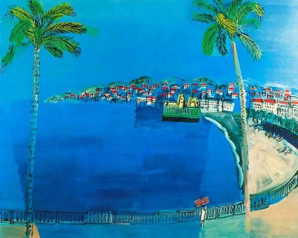 Raoul Dufy painting / Seaside Villages