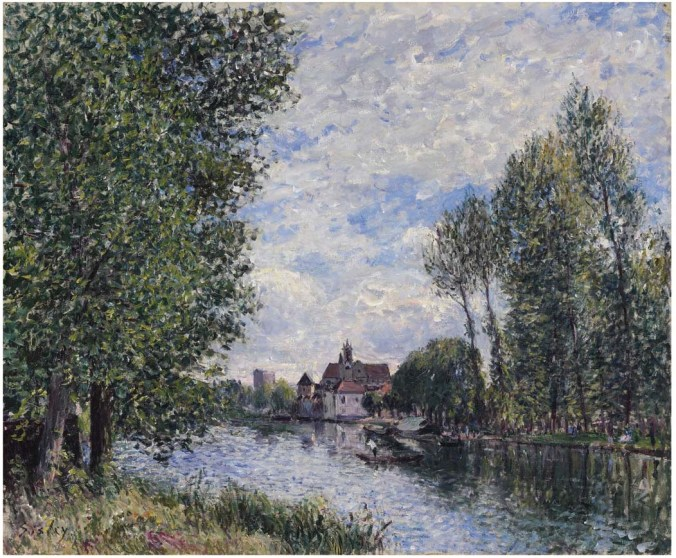 Summer in Moret - Alfred Sisley Painting