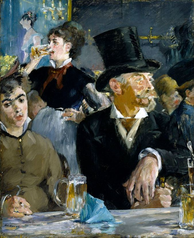 A scene in a Paris Bar - Manet Painting - French artists