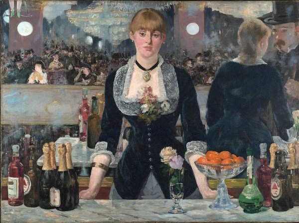 A Bar at the Folies Bergère - Manet Painting