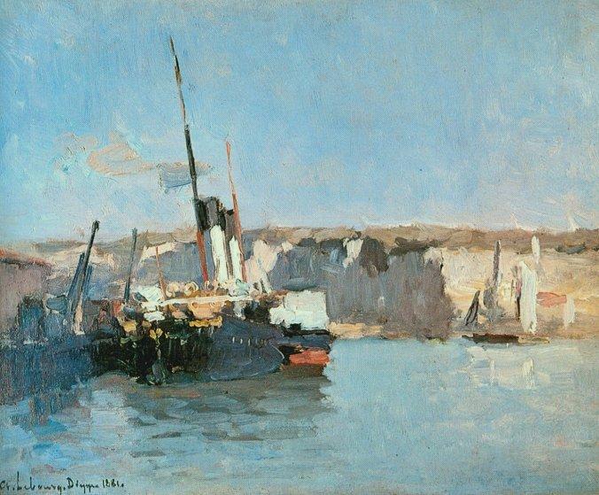 Dieppe - Alabaster Coast - Albert Lebourg Painting