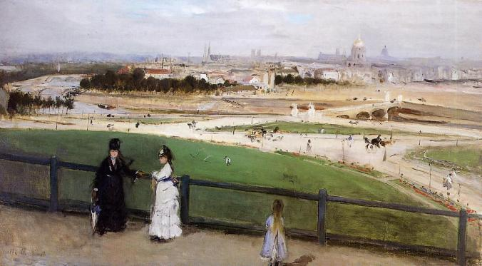 View of Paris from the Trocadero - Manet Painting